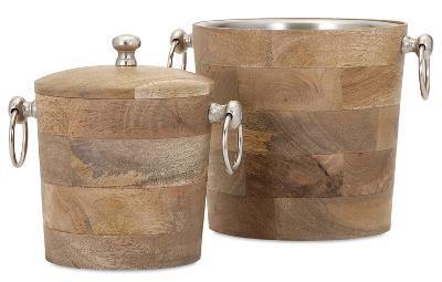 Bergen Wood Bar Bucket Set *--Home Accessories