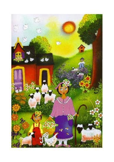 Bergerie d'Eugenie-Jenny Hellers-Art Print