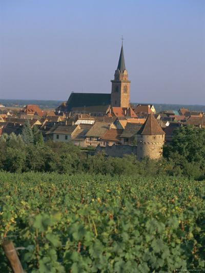 Bergheim and Vineyards, Alsace, France-John Miller-Photographic Print