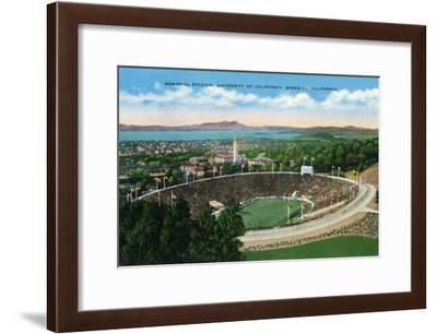Berkeley, California - University of California Memorial Stadium View-Lantern Press-Framed Art Print