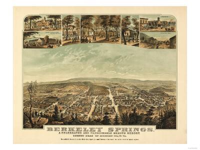 Berkeley Springs, West Virginia - Panoramic Map-Lantern Press-Art Print