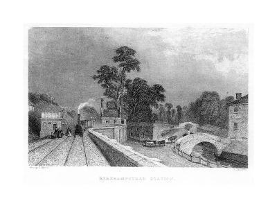 Berkhamsted Station, Hertfordshire, on the London and Birmingham Railway, C1860--Giclee Print