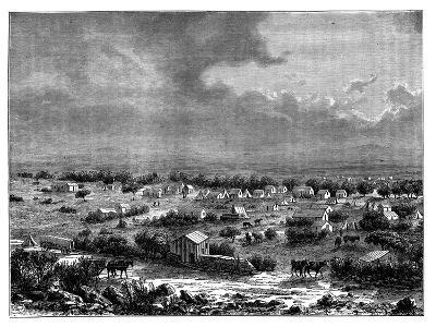 Berkly or Klipdrift, a Town in Griqualand West, South Africa, C1890--Giclee Print