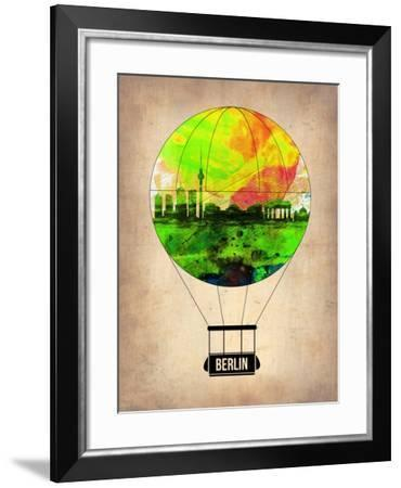 Berlin Air Balloon-NaxArt-Framed Art Print