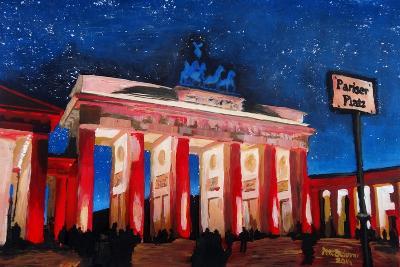 Berlin Brandenburg Gate with Paris Place-Martina Bleichner-Art Print