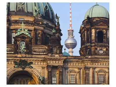 Berlin Cathedral with Television Tower, Berlin, Germany--Art Print