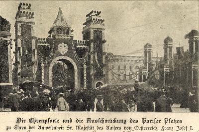 Berlin, Franz Josef I, Am Pariser Platz, Ehrenpforte--Giclee Print