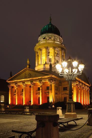 Berlin, Gendarmenmarkt, Night Photography-Catharina Lux-Photographic Print