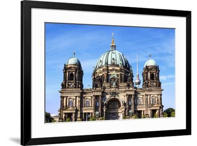 Berlin, Germany. Museum Island, Berlin Cathedral with the Berlin-Miva Stock-Framed Photographic Print