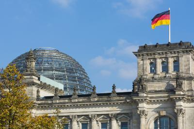 Berlin, Germany Reichstag Building Famous City Center-Bill Bachmann-Photographic Print