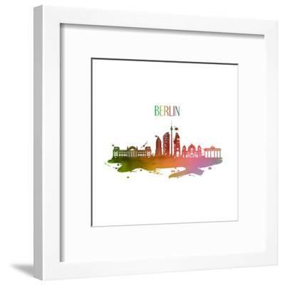 Berlin Germany Skyline-Wonderful Dream-Framed Art Print