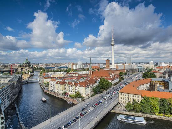Berlin, Germany Viewed from above the Spree River.-SeanPavonePhoto-Photographic Print