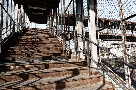 Berlin-Marzahn, City Railroad Station, Stairs-Catharina Lux-Photographic Print