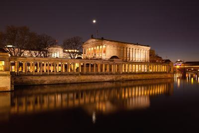 Berlin, Museumsinsel (Museum Island), UNESCO World Heritage, Night-Catharina Lux-Photographic Print