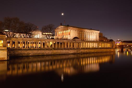Berlin, Museumsinsel (Museum Island), UNESCO World Heritage, Night-Catharina Lux-Photographic Print