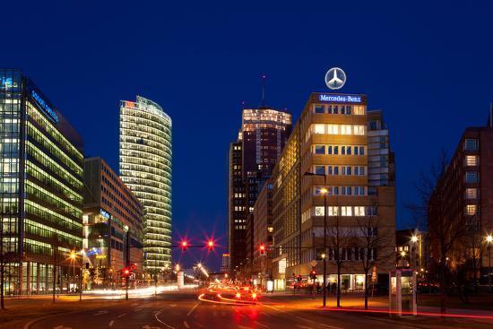 Berlin, Potsdamer Platz, Night Photography-Catharina Lux-Photographic Print