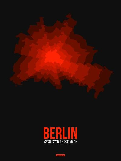 Berlin Radiant Map 2-NaxArt-Art Print