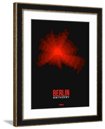 Berlin Radiant Map 2-NaxArt-Framed Art Print