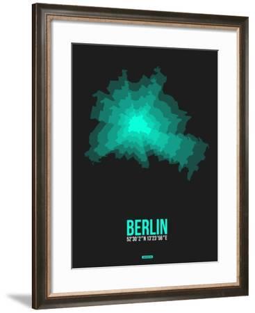 Berlin Radiant Map 3-NaxArt-Framed Art Print