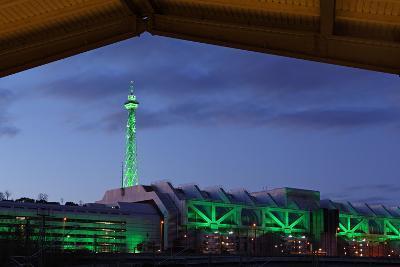 Berlin, Radio Tower, Icc, Evening-Catharina Lux-Photographic Print