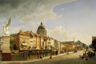 Berlin, Schlossfreiheit View from the Schlossbruecke, 1855-Johann Philipp Eduard Gaertner-Giclee Print