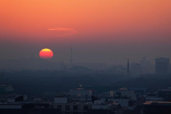 Berlin, Sunset, Silhouettes-Catharina Lux-Photographic Print