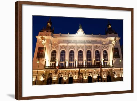 Berlin, Theater Der Westens, Dusk-Catharina Lux-Framed Photographic Print