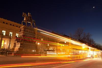 Berlin, Unter Den Linden, Monument Frederick the Great, Night Photography-Catharina Lux-Photographic Print
