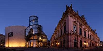 Berlin, Unter Den Linden, Zeughaus (Arsenal), German Historical Museum, Pei-Bau, Panorama, Evening-Catharina Lux-Photographic Print