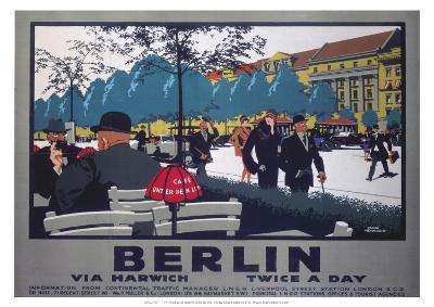 Berlin via Harwich twice a day, LNER, c.1925--Giclee Print