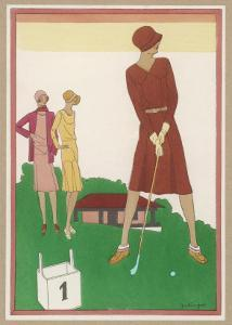 Ladies on a Golf Course by Berlinger