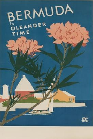 Bermuda in Oleander Time, Travel Poster