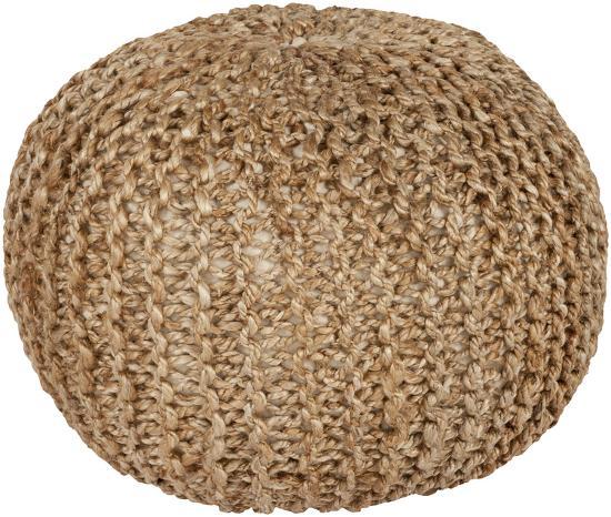 Bermuda Jute Sphere Pouf - Beige--Home Accessories