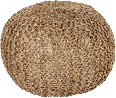 Bermuda Jute Sphere Pouf - Beige