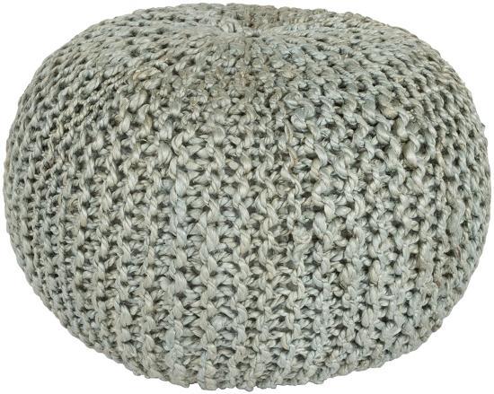 Bermuda Jute Sphere Pouf - Light Gray--Home Accessories