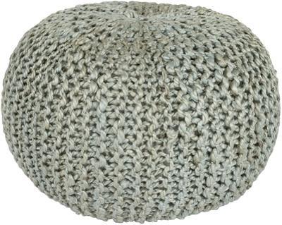 Bermuda Jute Sphere Pouf - Light Gray