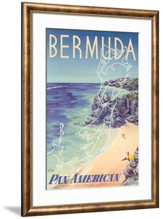 Bermuda - via Pan American World Airways-Loweree-Framed Giclee Print