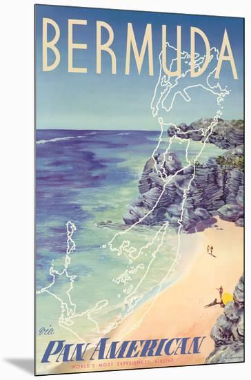 Bermuda - via Pan American World Airways-Loweree-Mounted Giclee Print