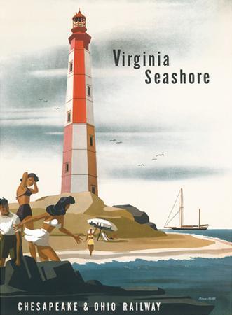 Chesapeake & Ohio Railroad: Virginia Seashore, c.1950s