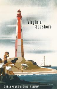 Chesapeake & Ohio Railroad: Virginia Seashore, c.1950s by Bern Hill