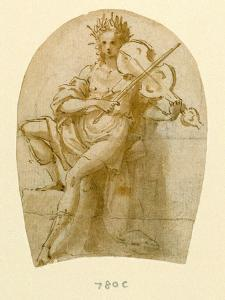 Apollo Seated, Playing His Viol by Bernadino India
