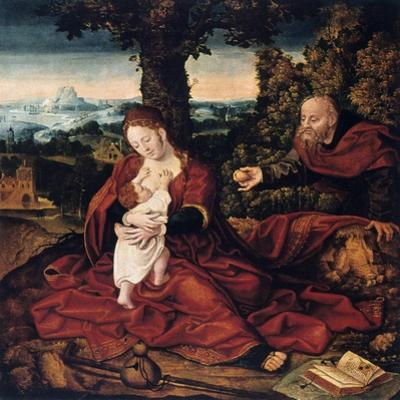 The Rest on the Flight into Egypt, 16th Century by Bernaert Van Orley