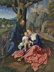 The Rest on the Flight into Egypt by Bernaert Van Orley
