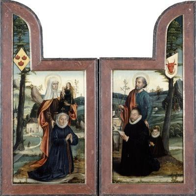 'Triptych with St Peter and St Anne', front, 16th Century.  Artist: Bernaert van Orley