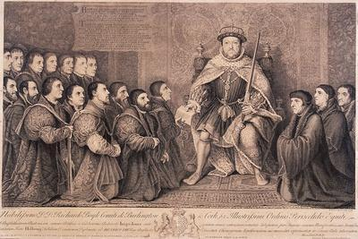 King Henry VIII Surrounded by Kneeling Figures, 1736
