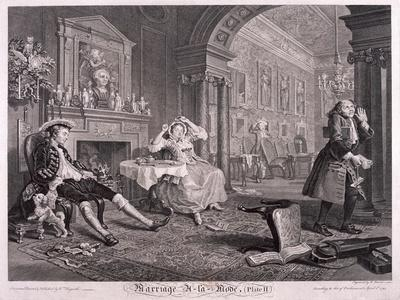 Marriage a La Mode, 1745, Plate II