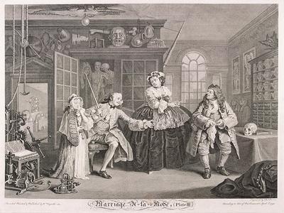 Marriage a La Mode, 1745, Plate III