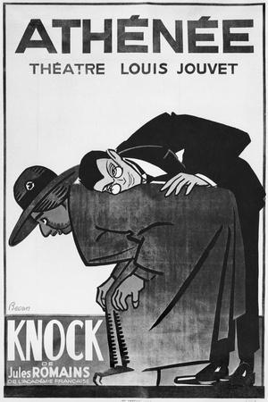 Poster Advertising a Performance of 'Knock or the Triumph of Medicine'
