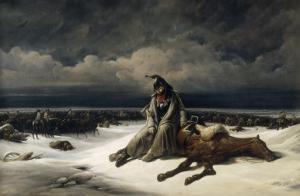 La retraite de Russie by Bernard Edouard Swebach