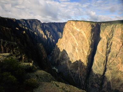 Black Canyon of the Gunnison National Monument on the Gunnison River From Near East Portal, CO by Bernard Friel
